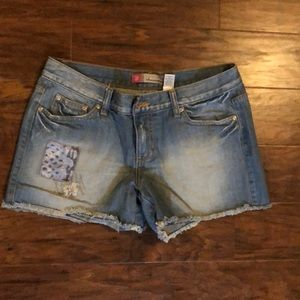 Jean shorts with cute details!